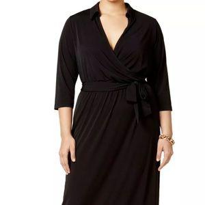 NY Collection faux wrap a-line Maxi dress size XL
